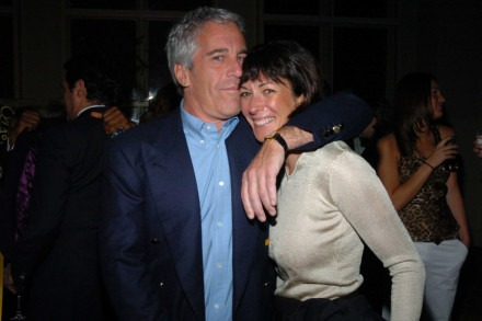 NEW YORK CITY, NY - MARCH 15: Jeffrey Epstein and Ghislaine Maxwell attend de Grisogono Sponsors The 2005 Wall Street Concert Series Benefitting Wall Street Rising, with a Performance by Rod Stewart at Cipriani Wall Street on March 15, 2005 in New York City. (Photo by Joe Schildhorn/Patrick McMullan via Getty Images)